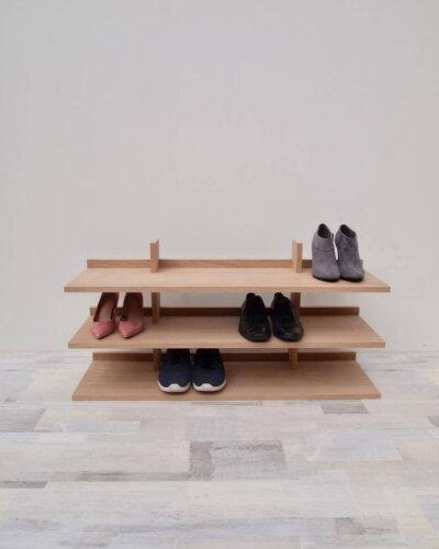 Modern Eiche Schuhregal